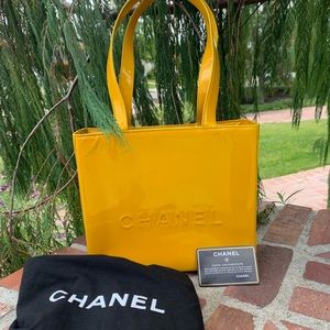 Gorgeous Auth Chanel Patent ToteBag W/Card Serial#